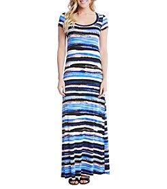 Karen Kane® Painted Stripe Maxi Dress