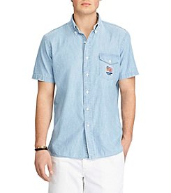 Polo Ralph Lauren® Men's Short Sleeve Chambray Button Down Shirt