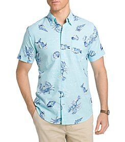 Izod® Saltwater Chambray Short Sleeve Shirt