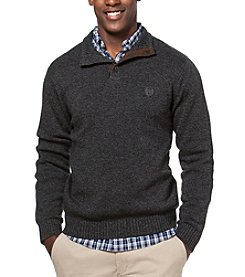 Chaps® Men's Big & Tall Men's Twist Button Mockneck Sweater
