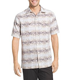Van Heusen® Men's Big & Tall Men's Short Sleeve Oasis Print Button Down Shirt