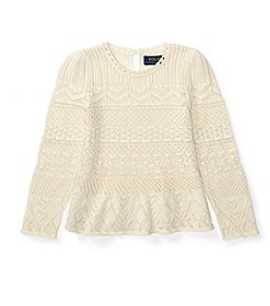 Polo Ralph Lauren® Girls' 2T-6X Pointelle Sweater