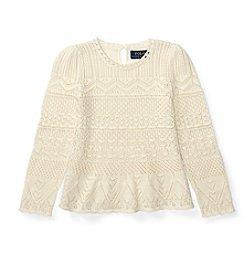 Polo Ralph Lauren® Girls' 2T-6X Pointelle Sweater