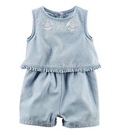 Carter's® Baby Girls' Layered Chambray Romper