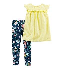 Carter's® Baby Girls' 2-Piece Shirt and Leggings Set