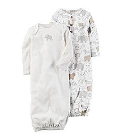 Carter's® Baby 2-Pack Sleeper Gowns with Elephant Print