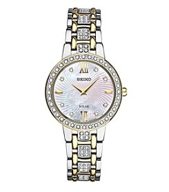 Seiko® Women's Two-Tone Crystal Collection Watch