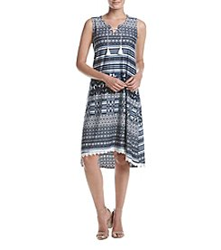 Oneworld® Lace Up Printed Dress