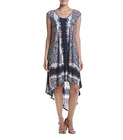 Oneworld® Printed High Low Hem Dress