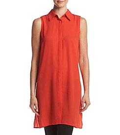 Joan Vass® Collared Tunic Top