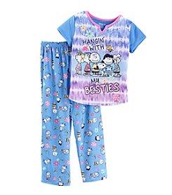 Komar Kids® Girls' 2-Piece Peanuts Pajama Set