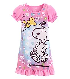 Komar Kids® Baby Girls' 12-24 Month Snoopy® Short Sleeve Nightgown