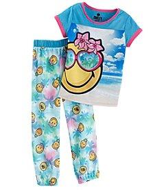 Komar Kids® Girls' 2 Piece Smiley Pajama Set