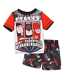 Komar Kids® Baby Boys' 12-24 Month  Super Friends 2-Piece Pajama Set