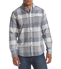 Ocean Current® Men's Texured Plaid Long Sleeve Woven Shirt