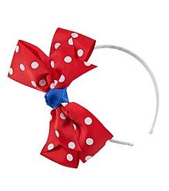 Riviera® Girls' Large Dot Bow Headband
