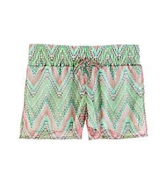 Squeeze® Girls' 7-16 Print Chevron Shorts