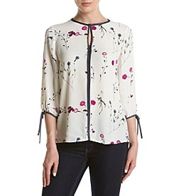 Ivanka Trump® Petal V-Neck Top