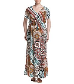 Oneworld® Plus Size Tassle Tie Front Maxi Dress