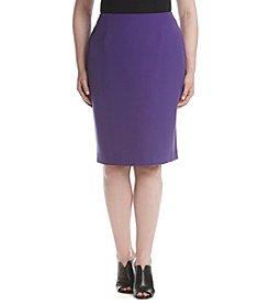 Kasper® Plus Size Stretch Crepe Skirt