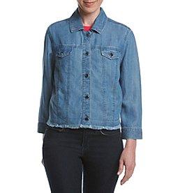 Rafaella® Petites' Crop Jean Tencel Jacket