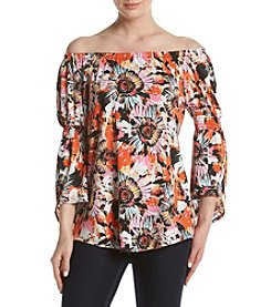Relativity® Floral Off-Shoulder Top