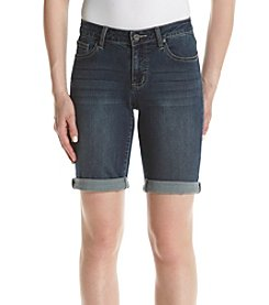 Earl Jean® Roll Cuff Bermuda Shorts