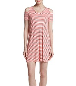Madison Leigh® Striped Cold Shoulder Knit Dress