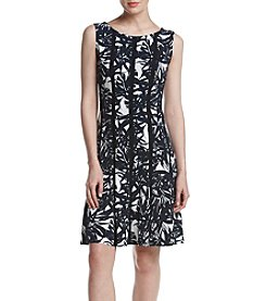 Connected® Printed Seamed Dress