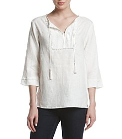 Jones New York® Linen Placket Tunic