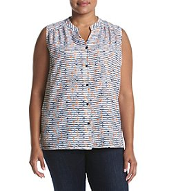 Nine West® Anchor Printed Woven Top
