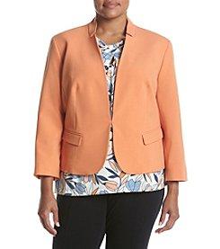 Nine West® Plus Size Stand Collar Stretch Jacket