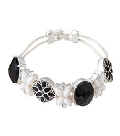 Napier® Boxed Black And White Slider Bracelet