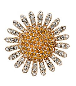 Napier® Boxed Sunflower Pin