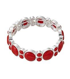 Napier® Circle Epoxy Cabochon Stretch Bracelet