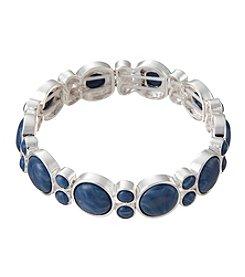 Napier® Epoxy Circle Cabochon Stretch Bracelet