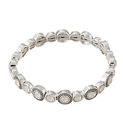 Napier® Clear Faceted Stone Stretch Bracelet