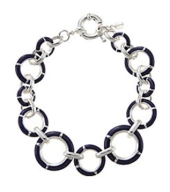 Napier® Enamel Circle Link Flex Bracelet