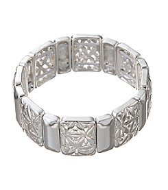 Napier® Cutout Accented Stretch Bracelet