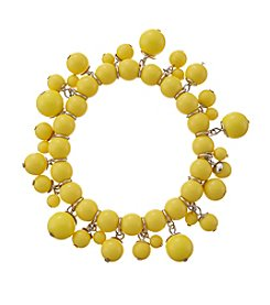 Studio Works® Yellow Single Row Beaded Shaky Bracelet