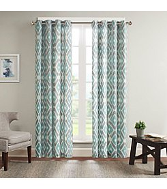 Madison Park Ashlin Diamond Printed Window Panel