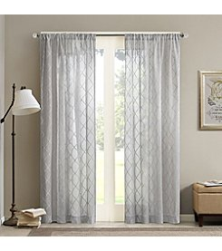 Madison Park Irina Embroidered Diamond Sheer Window Panel
