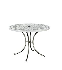 Home Styles® Capri Concrete Stenciled Round Outdoor Table