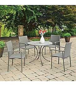 Home Styles® Umbria Concrete Tile Round Outdoor Table