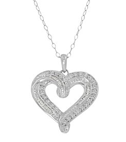 Sterling Silver 0.25 Ct. T.W. Diamond Heart Pendant