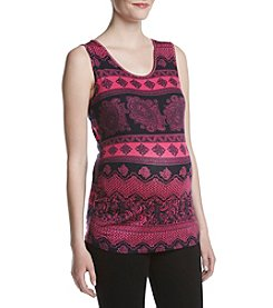 Three Seasons Maternity™ Print Bow Back Tank Top