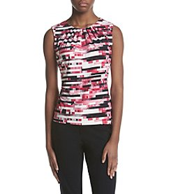 Calvin Klein Petites' Striped Pleatneck Cami