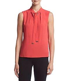 Calvin Klein Petites' Tie Neck Blouse