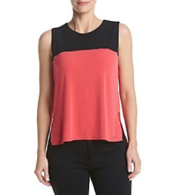 Calvin Klein Petites' Color Block Knit Top