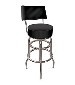 Trademark Gameroom High Grade Black Padded Bar Stool with Back
